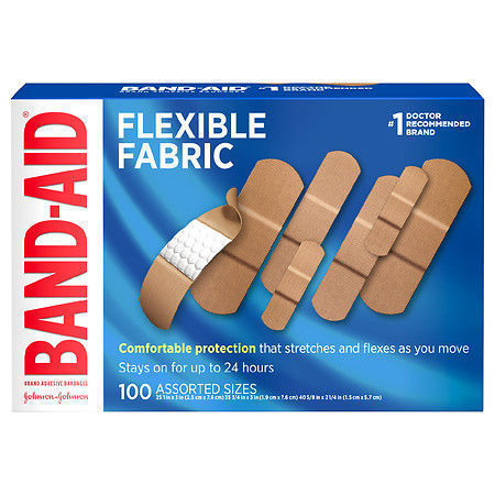 Picture of Band-Aid Flexible Fabric Adhesive Bandages, All One Size (1 Inch) 100.0 ea